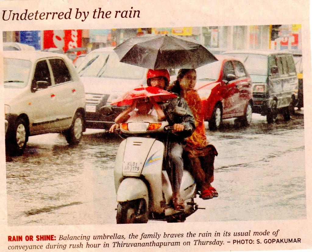 Regen in Kerala